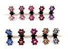 Cuhair(tm) 10pcs Crystal Rhinestone Assorted Bangs Mini Hair Claw Clip Hair Pin Flower Accessories for Girl Women Baby Mix Colored by cuhair