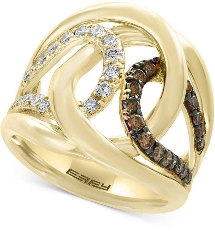 Effy Diamond Interlocking Ring (3/4 ct. t.w.) in 14k Gold