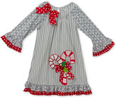 Rare Editions Candy Cane Dress, Toddler Girls (2T-5T)