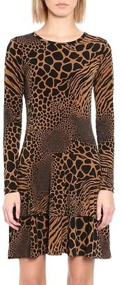 MICHAEL Michael Kors Animal-Print Patchwork Dress