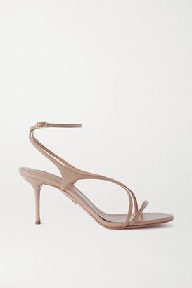 Aquazzura Candie 75 Leather Sandals - Neutral