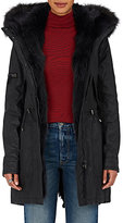 SAM. Women's Luxe Limelight Fur-Lined Coated Cotton-Blend Coat