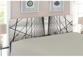 East Urban Home Brooklyn Bridge Cables Upholstered Panel Headboard Size: Twin