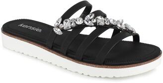 Kensie David Embellished Slide Sandal
