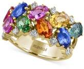 Effy Watercolors by Multi-Gemstone (5-1/5 ct. t.w.) and Diamond (1/3 ct. t.w.) Ring in 14k Gold