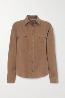 Three Graces London Willow Linen Shirt - Light brown