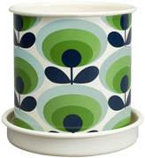 Orla Kiely Medium Plant Pot - Linear Stem Grey