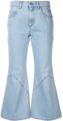 MSGM Anchor kick flare jeans