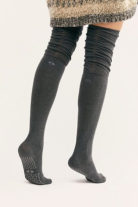 Free People Charlie Rouched Over-The-Knee Grip Sock
