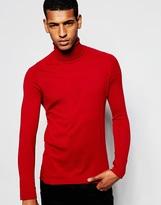 Antony Morato Silk Mix Roll Neck Jumper - Red