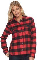 Columbia Women's Powder Peak Plaid Flannel Shirt Jacket