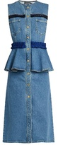 House of Holland Ruffle-trimmed denim dress