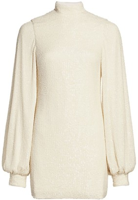 Alexis Lunia Blouson-Sleeve Sweater Dress