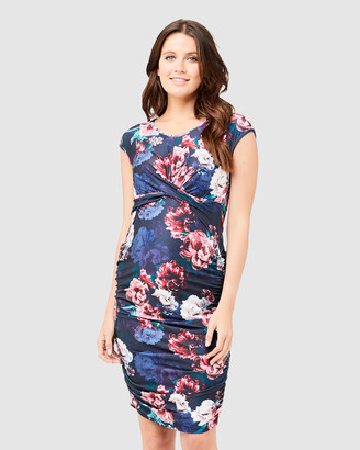 Ripe Maternity Women's Navy Floral Dresses - Kara Cross Your Heart Dress - Size One Size, S at The Iconic