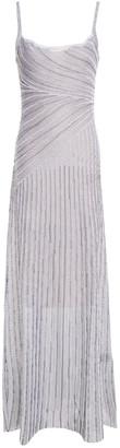 Just Cavalli Metallic Jacquard-knit Maxi Dress