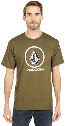 Volcom Crisp Stone Short Sleeve Tee (Military) Men's T Shirt