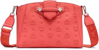 MCM Small Essential Monogram Leather Crossbody Bag