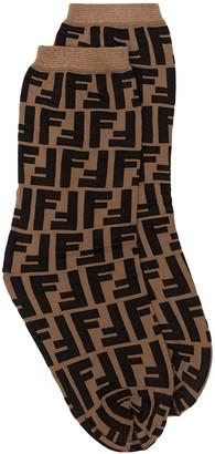 Fendi FF motif print socks