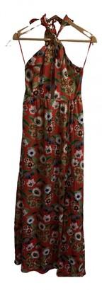 Borgo de Nor Red Silk Dress for Women