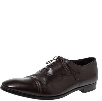 Giorgio Armani Brown Leather Classic Oxfords Size 42