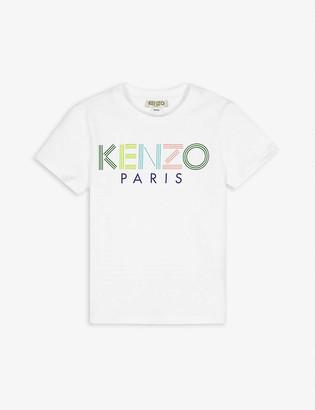 Kenzo Striped logo cotton T-shirt 4-14 years