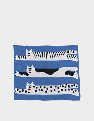 Living Textiles Slowdown Studio Cool Cats Mini Blanket