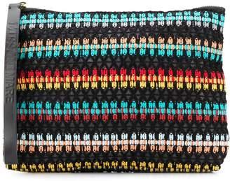 Missoni Mare woven style logo strap clutch bag