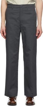 Lemaire Grey Straight-Leg Chino Trousers