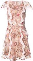 For Love & Lemons floral embroidered frill trim dress