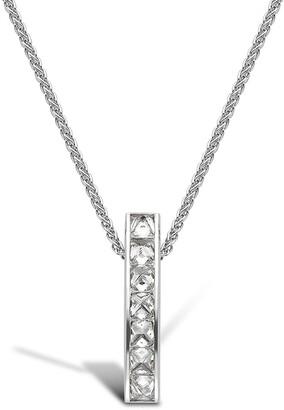 Pragnell 18kt white gold diamond single row RockChic pendant