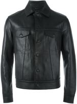 Emporio Armani buttoned leather jacket