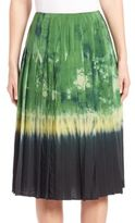 Altuzarra Zurina Pleated Dip-Dye Skirt