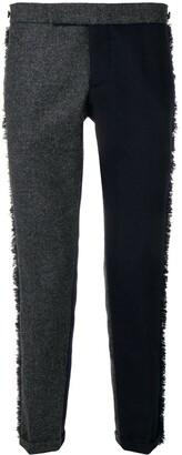 Thom Browne Frayed Edges Skinny Trouser
