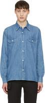 Our Legacy Blue Denim Rinse Wash Shirt