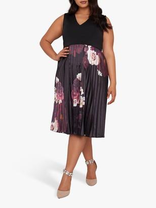 Chi Chi London Curve Arden Dress, Black Multi