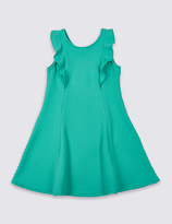 Marks and Spencer Frill Textured Dress (3-14 Years)