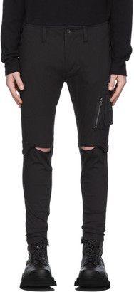 Julius Black Track Cargo Pants