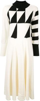 AKIRA NAKA fine knit patterned dress