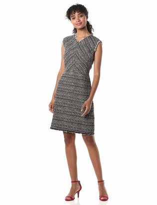 Rebecca Taylor Women's Sleeveless V-Neck Tweed Dress