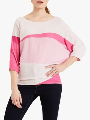 Phase Eight Carly Colour Block Jumper, Pink