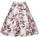Dorothy Perkins Womens *Izabel London Cream Zip Skirt- Cream