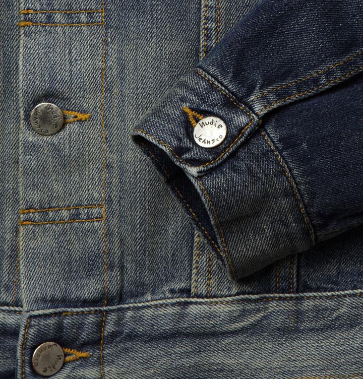 Nudie Jeans Perry Distressed Organic Selvedge Denim Jacket