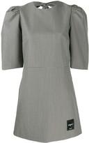 MSGM short houndsdtooth dress