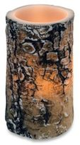 Bed Bath & Beyond Wax Lodge Bark Carved Flameless LED Candle in Birch