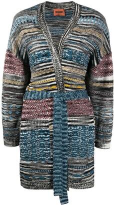 Missoni Intarsia Knit Belted Cardi-Coat