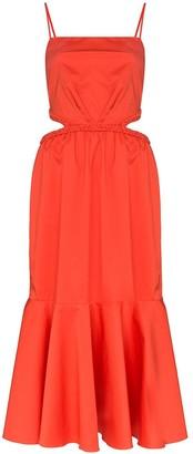 Johanna Ortiz Summer Luck cutout cotton midi dress