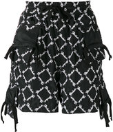 Kokon To Zai all-over embroidered shorts