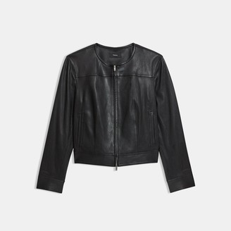Theory Jean Moto Jacket in Leather
