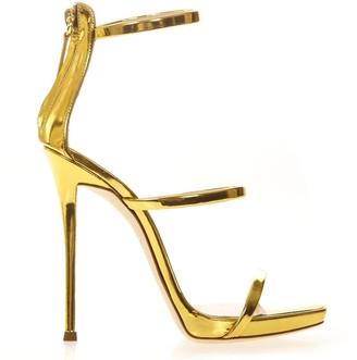 Giuseppe Zanotti Harmony Metallic Gold Leather Sandals