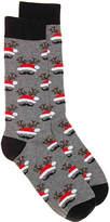 K. Bell Men's Mustache Santa Hat Men's Crew Socks